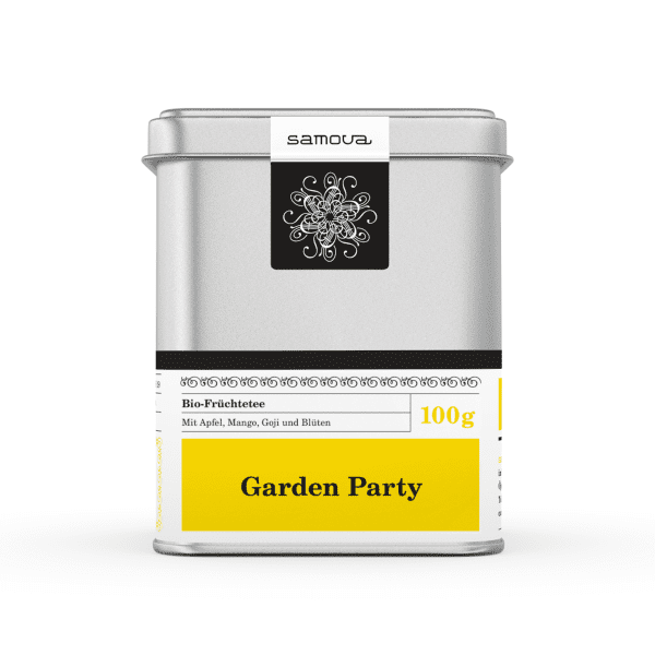 Can of Garden Party tea