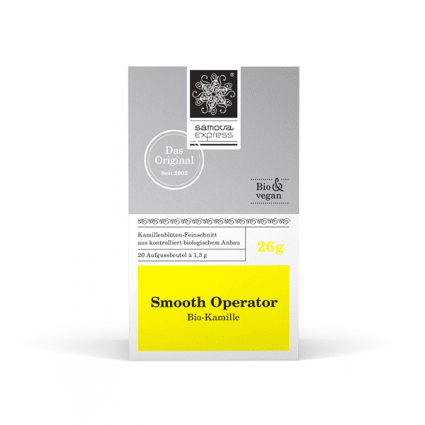 Pack of Smooth Operator tea with 20 tea bags