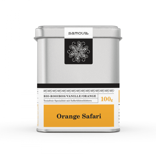 Can of Orange Safari tea