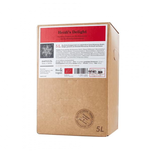 5 liter box of Heidi's Delight tea