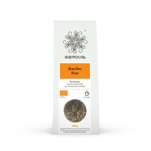 Packung der Teesorte Karibu Sun