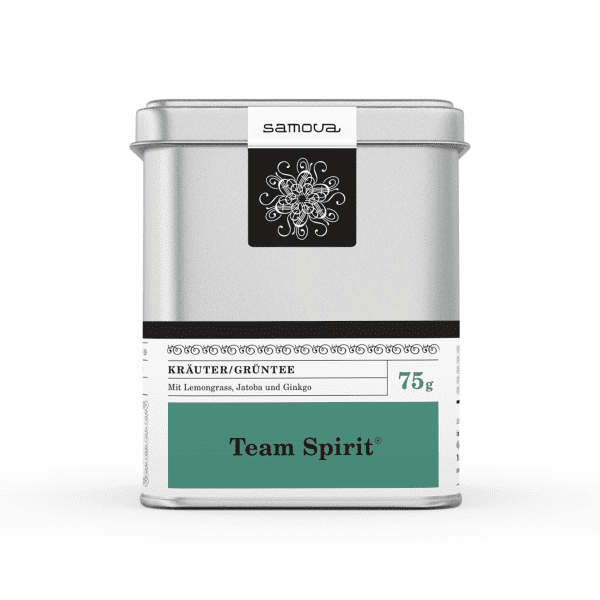 Lata de té Team Spirit
