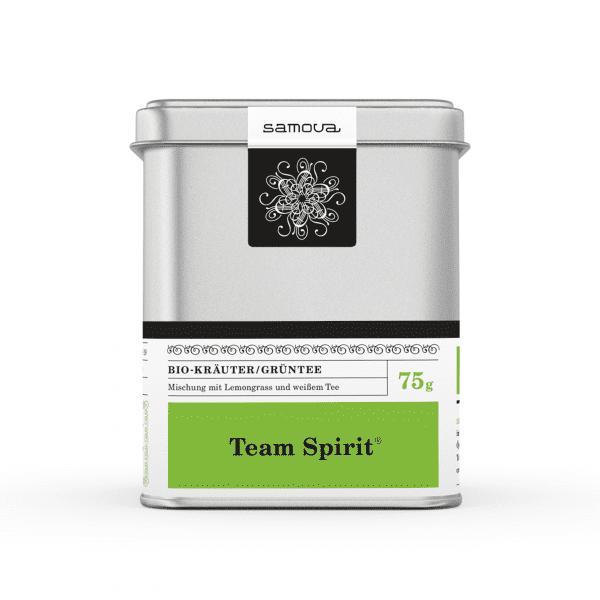 Can of Team Spirit organic tea