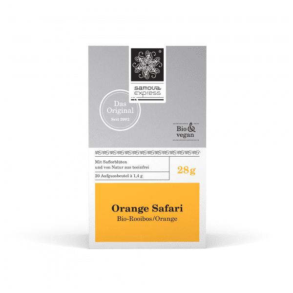 Pack de té Orange Safari con 20 bolsitas de té