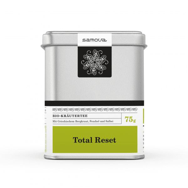 Lata del tipo de té Total Reset